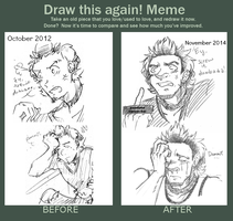 Draw This Again Meme: Expressions by xmoonlitxdreamx
