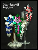 Scale Kanzashi by crazed-fangirl