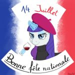 Rarity wishes you a happy French National Day! by DerpyJoel