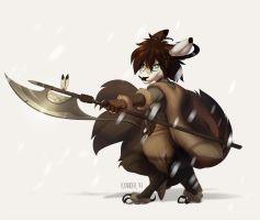 Severe blizzard by kyander