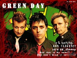 Green Day wall by Neko-Soul