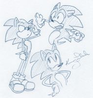 Sonic Doodles by kimmykay