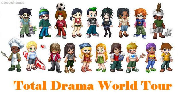 Total Drama World Tour Crew by cococheese