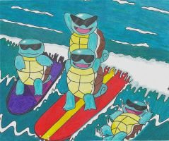 Here Comes the Squirtle Squad! by Mchll0644