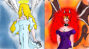 Heaven and Hell - iScribble by TigaLioness