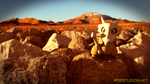 Cubone in the Desert by TheModerator