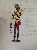 borderlands bandit character Design by InZaino