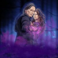 Rumpelstiltskin and Belle by anawind