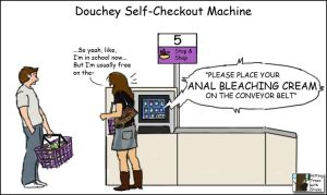 Douchey Self Checkout by Terraced-Fields