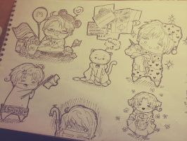 #ChibiHetalia. Sketches. by Matthew-Ray