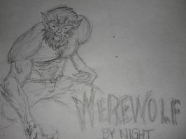Werewolf By Night Sketch by Brii333