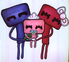 Kawaii Enderman Family by jonnay