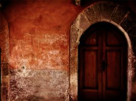 red house's door by Basile-Tirard