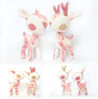 Rose Garden Deer Plush by pookat