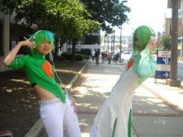 Otakon 2011-Gallade and Gardevoir by CraziestBlitzwing