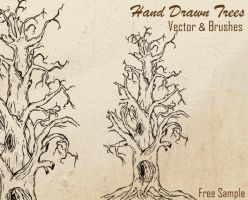 Free Hand Drawn Tree Vector by Stockgraphicdesigns