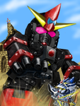 FA Knight Gundam VS Giant Psycogolem by lun616