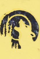 Howling Wolf- Stencil by Evex92