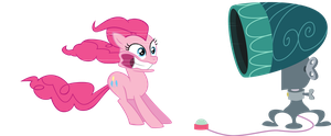 Pinkie vs Hairdryer by CloudshadeZer0