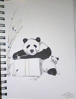 Panda Doodle by LeperGnome