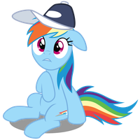 Rainbow Dash w/ Cap by CaliAzian