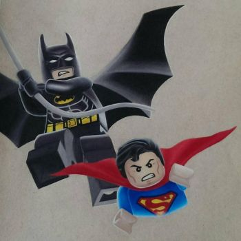 Lego Batman  Superman by klaudiajewula
