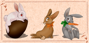One two three little bunnies by MilGoncalez