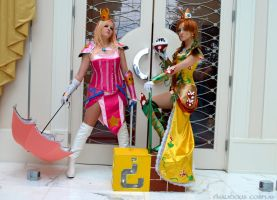 Warrior Daisy and Peach Cosplay by Malicious-Cosplay