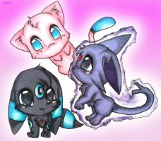 Three Poke-teirs by czaria