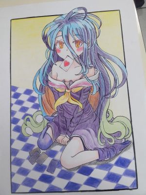 Shiro No game No Life Fan Art by MIKOTOXX
