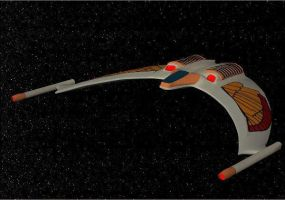 Romulan fighter .obj format by jaguarry3