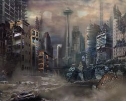 Post Apocalypse  Landscape by itwirlchucks