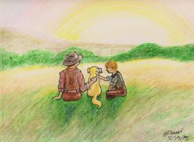 Memory of Old Yeller by SimPlyPlaIn42