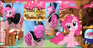 My Little Pony FIM Maid Pinkie Pie Custom Pony by Asukatze
