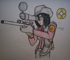 Titan Fortress 2 - Mikasa Ackerman the Sniper by Fil101