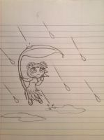 Forestinian in the Rain sketch - 9/2/12 by Jestloo