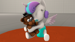 [SFM] Flurry Heart hugging a Teddy Bear by red4567-2