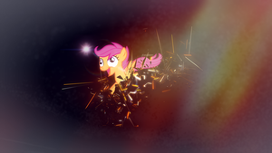 Scootaloo Spaces Out by AdrianImpalaMata