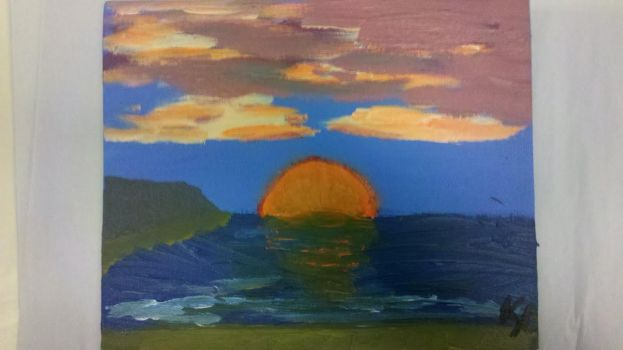 Sunset Painting by Saeihr
