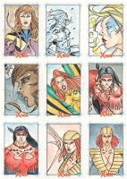 Xmen Archives Sketchcards 12 by Csyeung