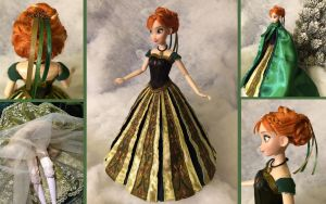 Custom Frozen Anna Coronation Doll by daphnetails