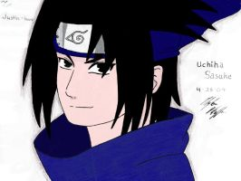 Sasuke colored by littlesparky5