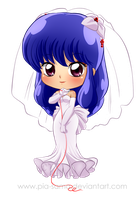 Commish - Chibi Bride Shampoo by Pia-sama