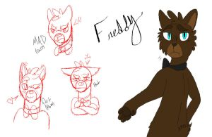 Freddy ~ FNAF drawing thingy by BittyKitty1