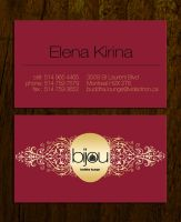 bijou business card by sounddecor
