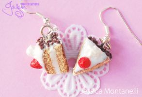 Cake Slice - Earrings by Jeyam-PClay