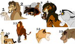 Lion Adoptables 41 by wolvesanddogs23