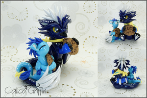 Lunaris the griffin - polymer clay by CalicoGriffin
