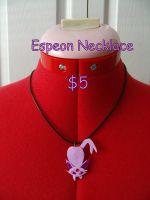 Espeon Necklace by CynicalSniper
