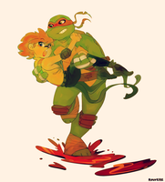 TMNT: Kimmie and Raph by student-yuuto